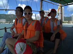 明美惠州海出旅游和影照