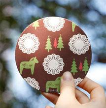 圆形圣诞标签定制