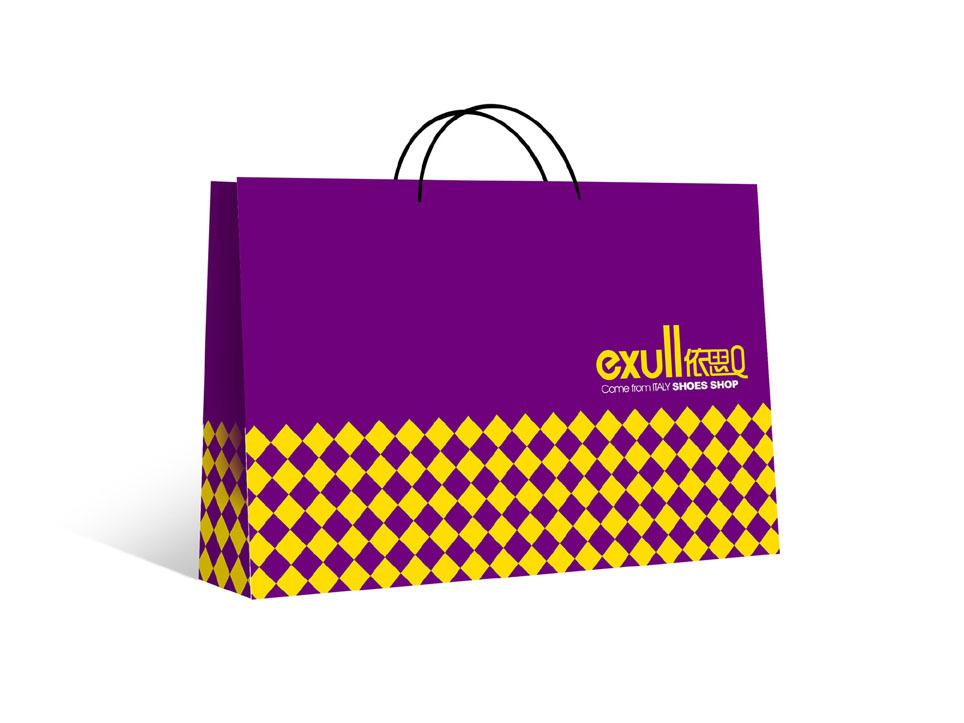 紫色手挽袋定制