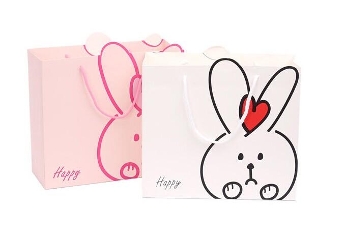 小白兔礼品袋制作
